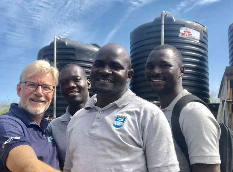 IAS water tanks and team