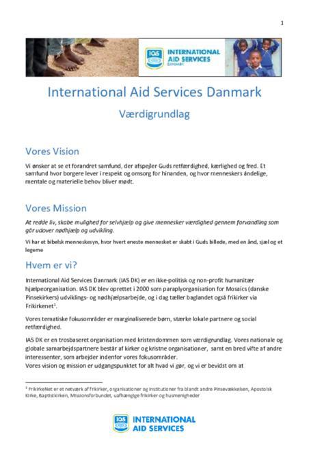 IAS Danmarks værdigrundlag