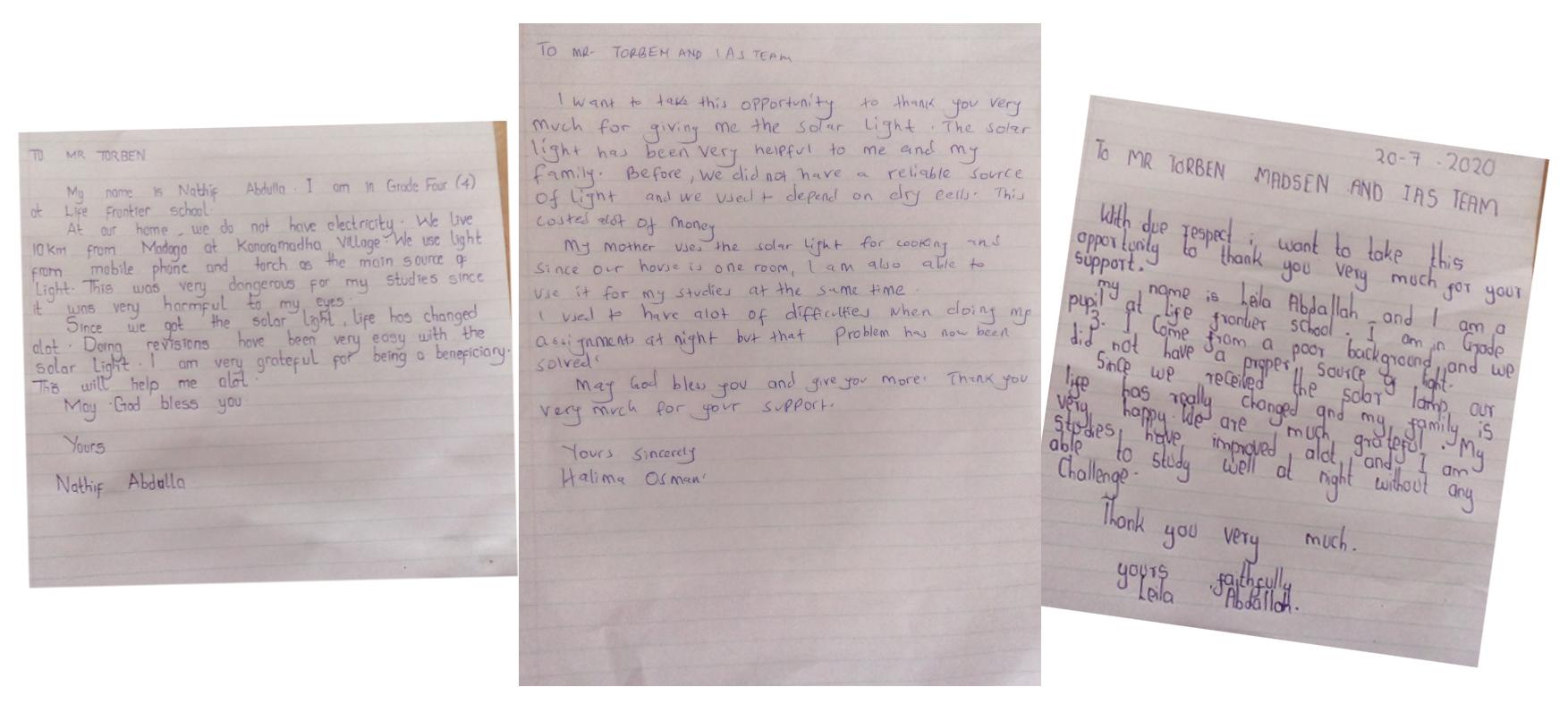 Takkebreve fra børn